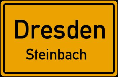 Ortsschild Dresden Steinbach