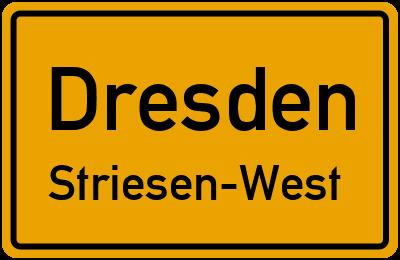 Ortsschild Dresden Striesen-West