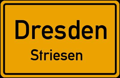 Ortsschild Dresden Striesen