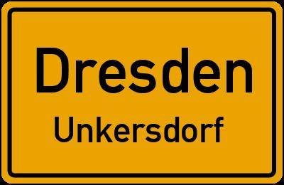 Ortsschild Dresden Unkersdorf