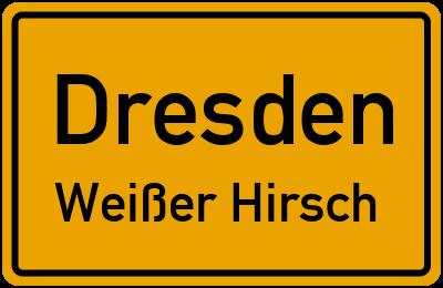 Straßenverzeichnis Dresden Weißer Hirsch