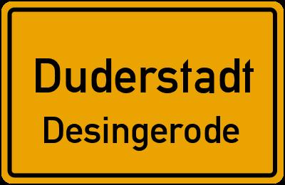 Ortsschild Duderstadt Desingerode