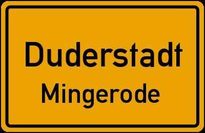 Ortsschild Duderstadt Mingerode