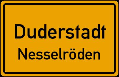 Ortsschild Duderstadt Nesselröden
