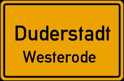 Ortsschild Duderstadt Westerode