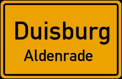 Straßenverzeichnis Duisburg Aldenrade