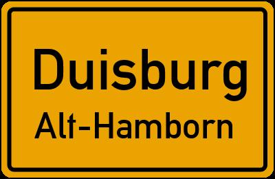 Straßenverzeichnis Duisburg Alt-Hamborn