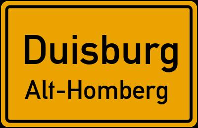 Straßenverzeichnis Duisburg Alt-Homberg
