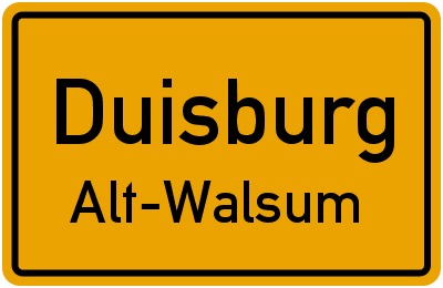 Straßenverzeichnis Duisburg Alt-Walsum