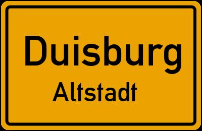 Straßenverzeichnis Duisburg Altstadt