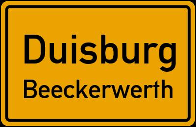 Straßenverzeichnis Duisburg Beeckerwerth