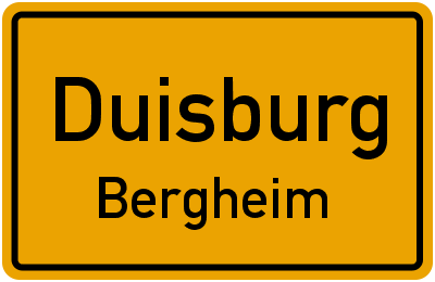 Straßenverzeichnis Duisburg Bergheim