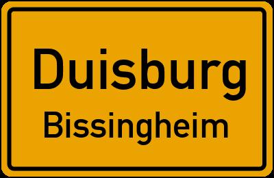 Straßenverzeichnis Duisburg Bissingheim