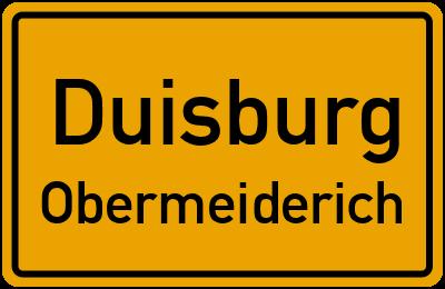 Straßenverzeichnis Duisburg Obermeiderich