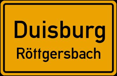 Straßenverzeichnis Duisburg Röttgersbach