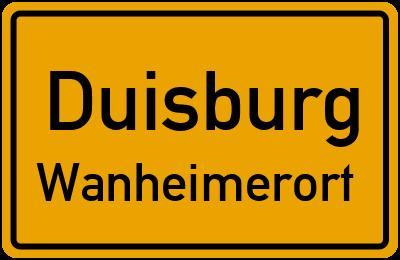 Straßenverzeichnis Duisburg Wanheimerort