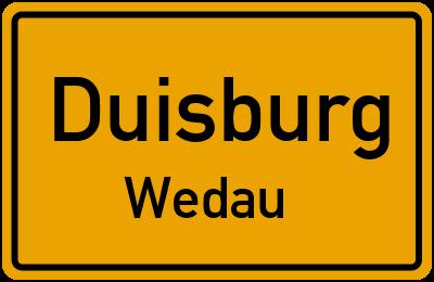 Ortsschild Duisburg Wedau