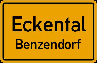 Ortsschild Eckental Benzendorf