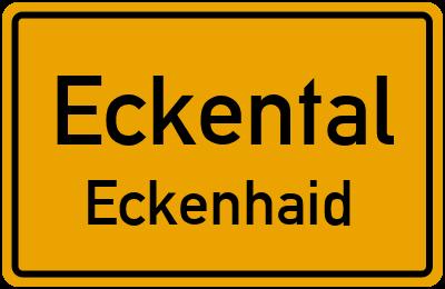 Ortsschild Eckental Eckenhaid