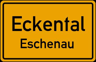 Ortsschild Eckental Eschenau