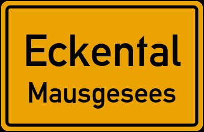 Ortsschild Eckental Mausgesees