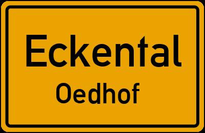 Ortsschild Eckental Oedhof