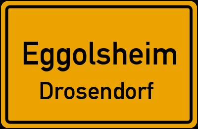 Ortsschild Eggolsheim Drosendorf