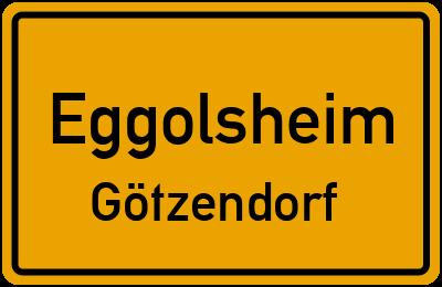 Ortsschild Eggolsheim Götzendorf