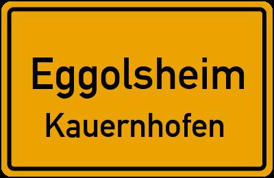 Ortsschild Eggolsheim Kauernhofen