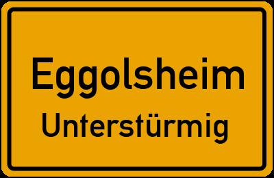 Ortsschild Eggolsheim Unterstürmig