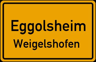 Ortsschild Eggolsheim Weigelshofen