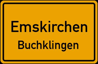 Ortsschild Emskirchen Buchklingen
