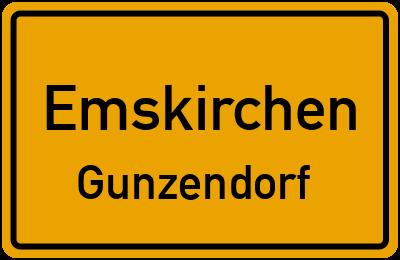 Ortsschild Emskirchen Gunzendorf