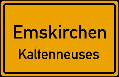 Ortsschild Emskirchen Kaltenneuses