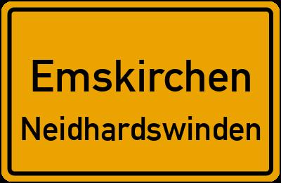 Ortsschild Emskirchen Neidhardswinden