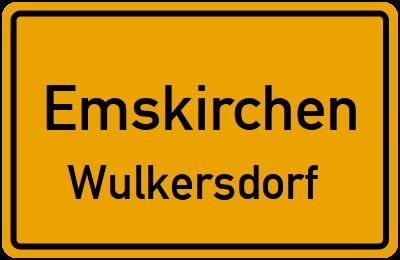 Ortsschild Emskirchen Wulkersdorf
