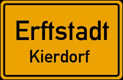 Ortsschild Erftstadt Kierdorf