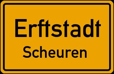 Ortsschild Erftstadt Scheuren