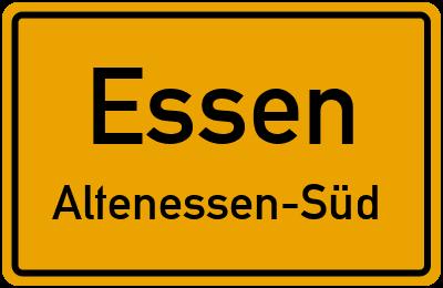 Straßenverzeichnis Essen Altenessen-Süd