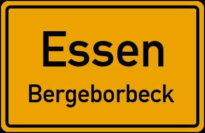 Straßenverzeichnis Essen Bergeborbeck