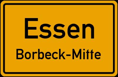 Straßenverzeichnis Essen Borbeck-Mitte