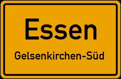 Ortsschild Essen Gelsenkirchen-Süd