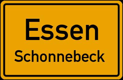 Straßenverzeichnis Essen Schonnebeck