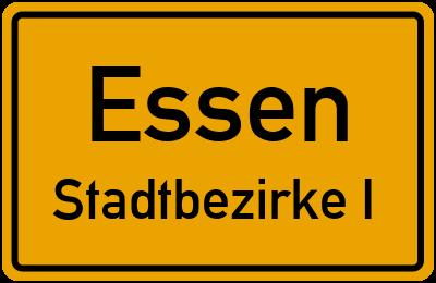 Straßenverzeichnis Essen Stadtbezirke I