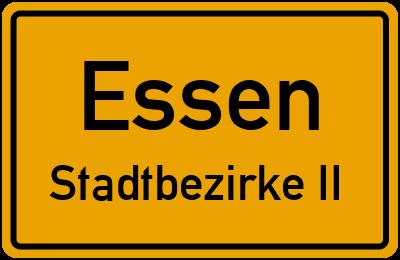 Straßenverzeichnis Essen Stadtbezirke II
