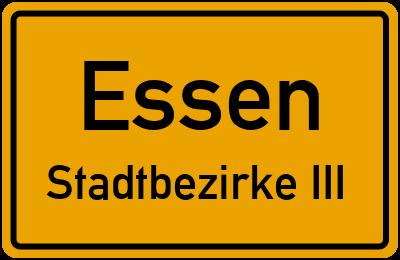 Straßenverzeichnis Essen Stadtbezirke III