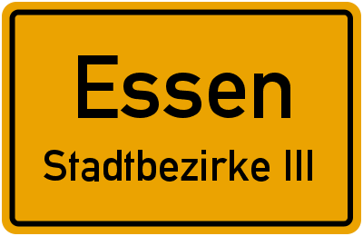 Hüttmannstraße in EssenStadtbezirke III