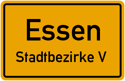 Straßenverzeichnis Essen Stadtbezirke V