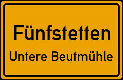 Straßenverzeichnis Fünfstetten Untere Beutmühle