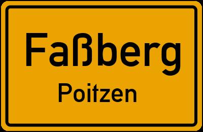 Ortsschild Faßberg Poitzen